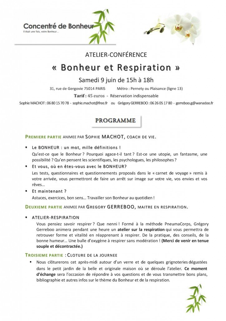 Atelier-Conférence