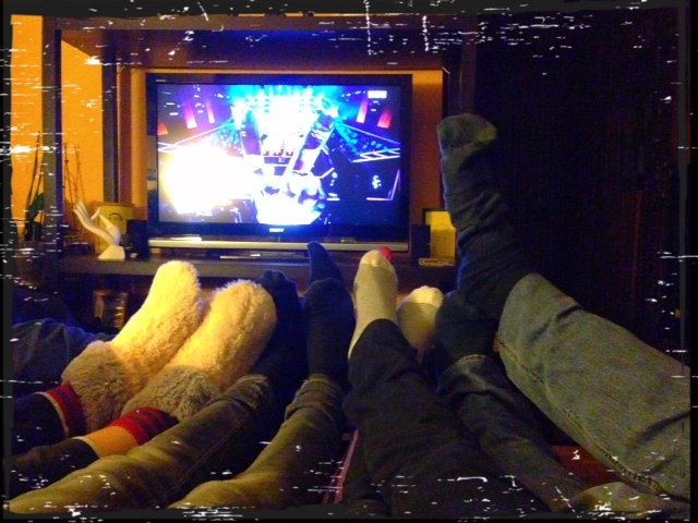 This is the Voice. . . in sock family ! dans MES BONHEURS QUOTIDIENS photo3