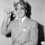 Marcel Cerdan In Crown Giving Ok Sign